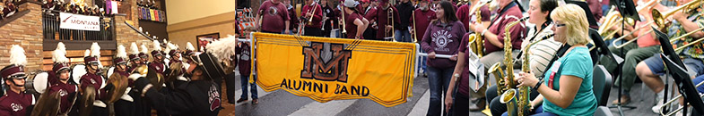 Alumni Band in the 2015 Homecoming Parade