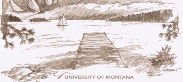 Illustration of jette on Flathead Lake