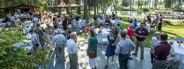 Photo of attendees at the Flathead Lake Event