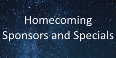 Homcoming Sponsors and Specials