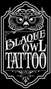 blaque-owl tattoo logo