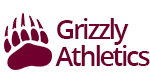 Bear paw logo with text: Grizzly Athletics