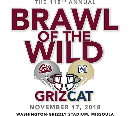 118th Brawl of the Wild 2018 logo. November 17, 2018 - Washington Grizzly Stadium