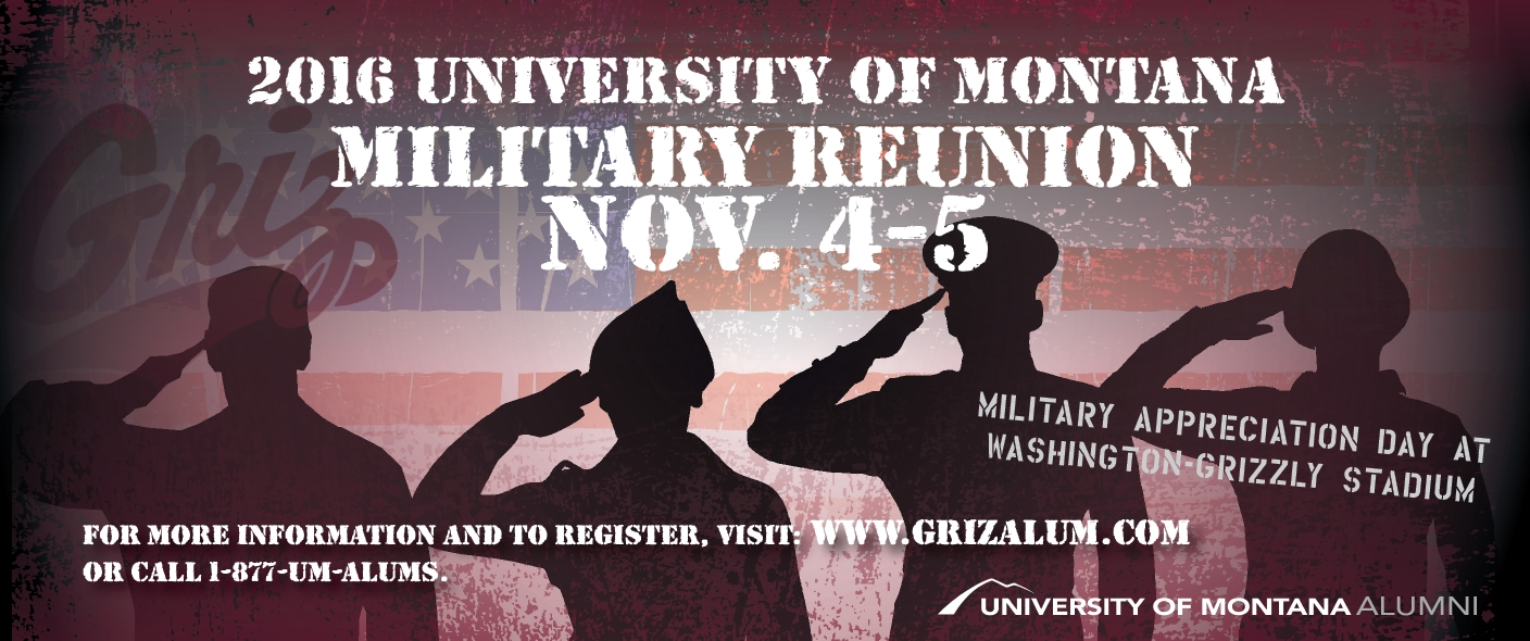 2016 University of Montana Military Reunion Nov. 4-5