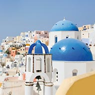 Picture of Blue domes and houses in Santorini