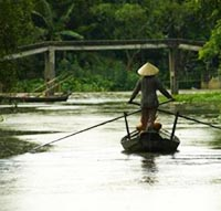 Photo of boater on Mekong River