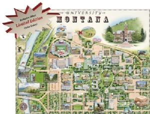 Xplorer Maps Limited Edition University of Montana Print