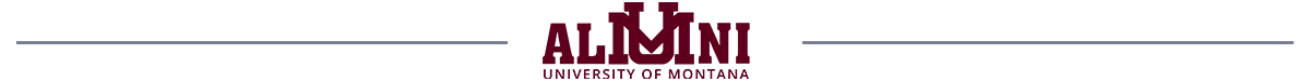 University of Montana Alumni logo with horizontal line