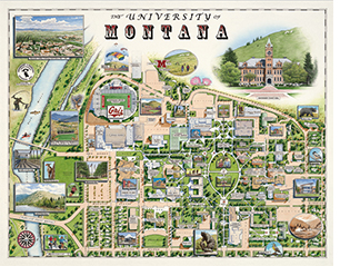 University of Montana Xplorer Map