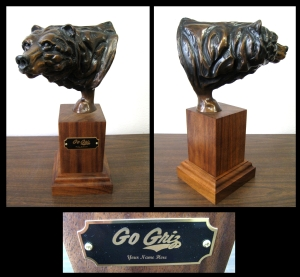 Grizzly Bronze Statue