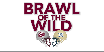 Brawl of the Wild. Graphic of Griz and Bobcat helmets
