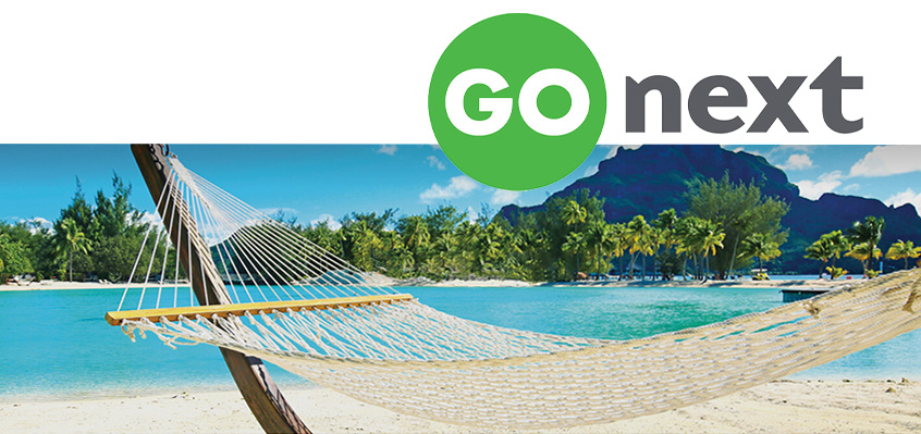Picture of hammock with GoNext logo