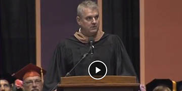 Eric Sprunk delivering 2018 Commencement Address