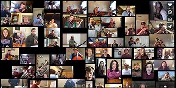 Photo of UM Arts hosting a virtual musical event